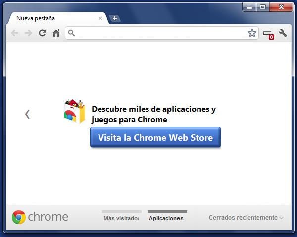 Google Chrome 15 disponible, nuevo diseño de la página Nueva Pestaña