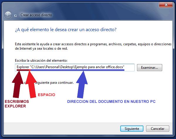 Anclar un documento de Word, Excel, PowerPoint en la barra de Tareas de Windows 7
