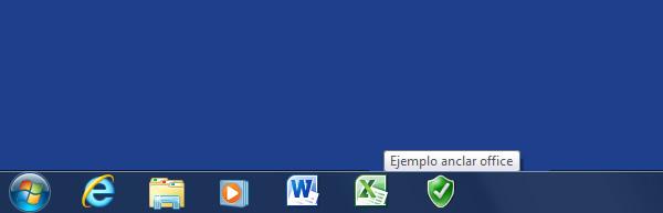 Como anclar un documento de Office en la barra de Tareas de Windows 7