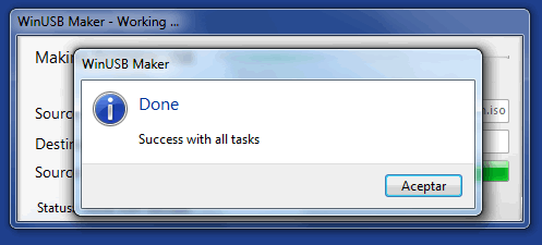 Ahora ya tenemos el instalador de WIndows 7 o Windows  8 en nuestra Memoria USB