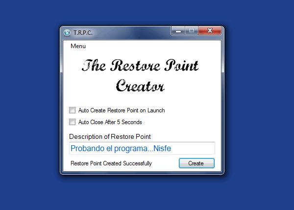 Crear un punto de Restauración y Restaurar Sistema en Windows 7