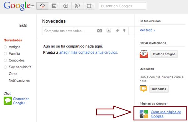 Como crear una página de Google+ Plus