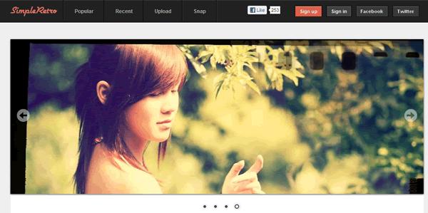 Añadir efecto de foto antigua a nuestras fotografías de forma online con SimpleRetro