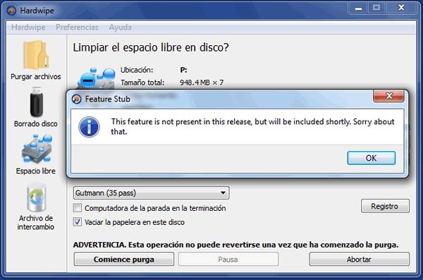 Eliminar los archivos de nuestro disco duro de forma segura con HardWipe