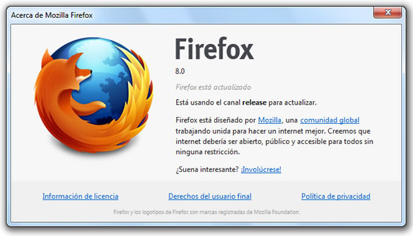 Mozilla Firefox 8 versión final ya está disponible para su descarga