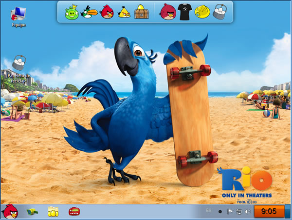 Descargar Angry Birds Skin Pack Themes para Windows 7
