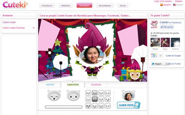 Cuteki, crear avatar de forma online con temas de Navidad