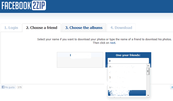 Descargar Álbumes de fotografias de Facebook con Facebook2Zip