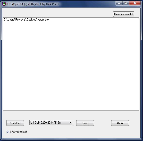 Eliminar archivos de Windows de forma segura con DPWipe