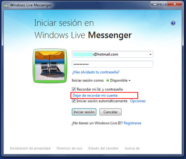 Solucionar el Error 8004882e y 804886c de Windows Live Messenger