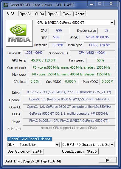 Analiza el rendimiento de tu tarjeta gráfica con GPU Caps Viewer