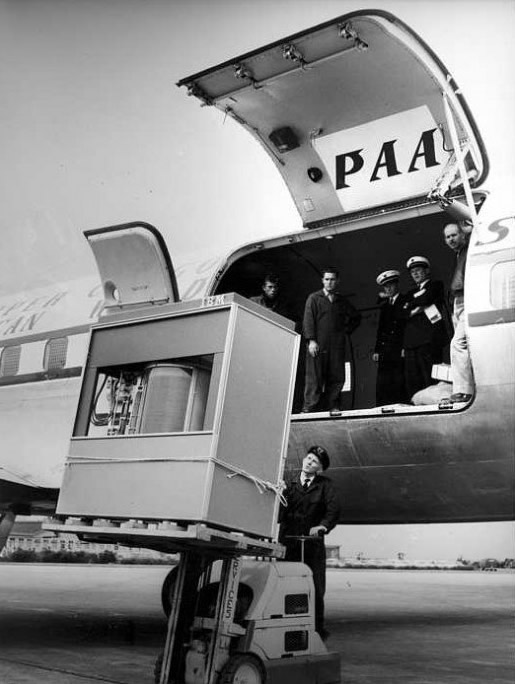 El disco duro de IBM de 5 MB en 1956