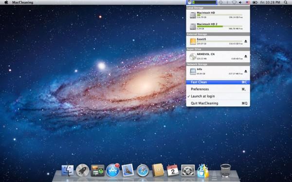 MacCleaning. Limpieza de archivos temporales para Mac
