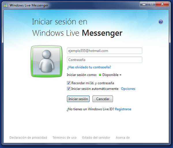 Como solucionar el Error 8004882e y 804886c de Windows Live Messenger
