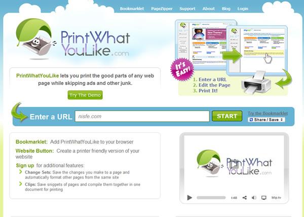 Imprime la parte que quieras de un sitio web con PrintWhatYouLike