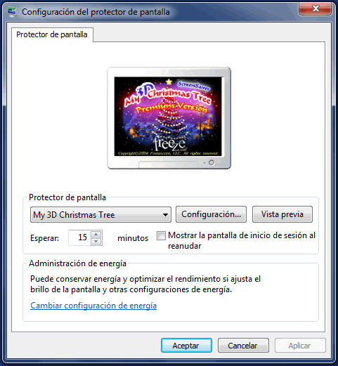 Protector pantalla 3D para Windows 7
