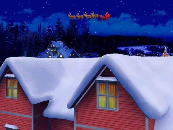 Protector de pantalla en 3D de Papa Noel. The Santa Claus Screensaver