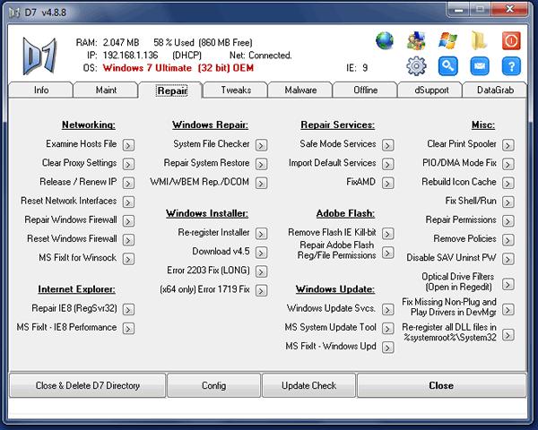 Reparar los problemas más sensibles de Windows