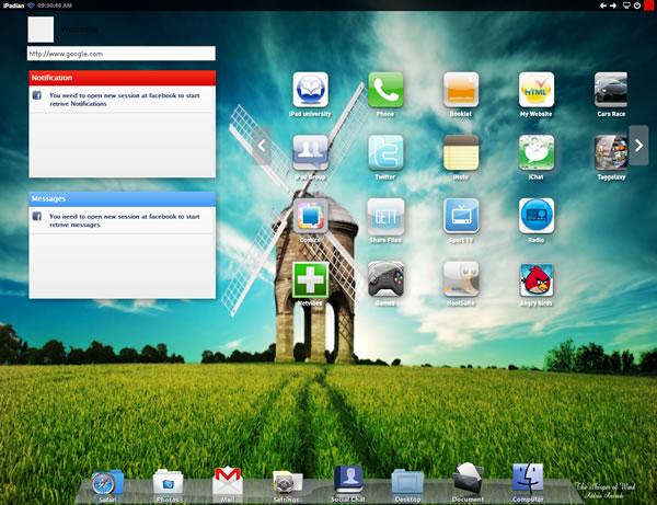 Ejecutar aplicaciones del iPad en Windows con iPadian un simulador del iPad