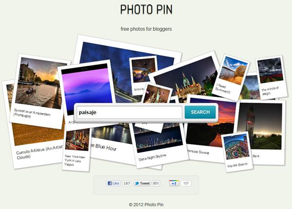PhotoPin Buscador de fotografías con licencia comercial y creative commons