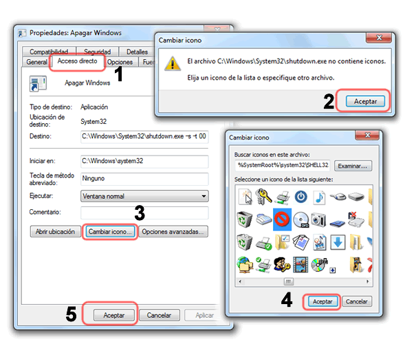 Como apagar Windows 7 solamente con dos clics