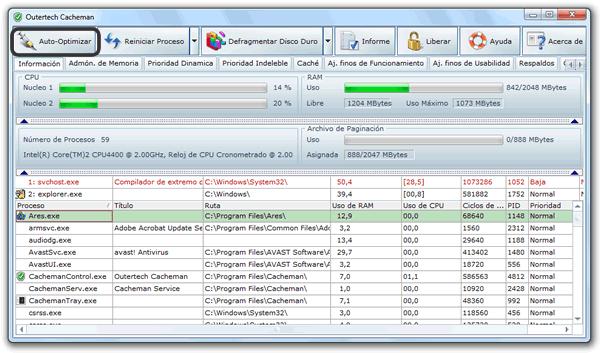 Como optimizar la cache de Windows 7 con Cacheman