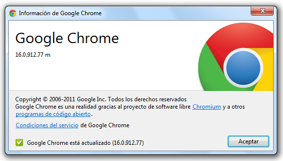 Google Chrome 16.0.912.77m se actualiza y corrige vulnerabilidades de seguridad