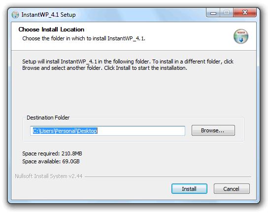 Instant WordPress Instalar WordPress de forma local en Windows