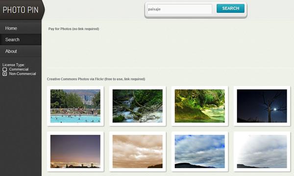 PhotoPin Buscador de imágenes y fotografías