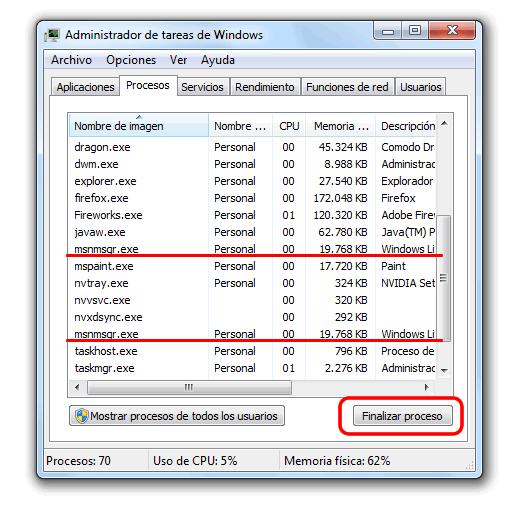 Como solucionar el Error 80071392 de Windows Live Messenger