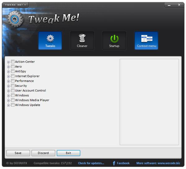 Como optimizar y mejorar el rendimiento de Windows con Tweak Me!