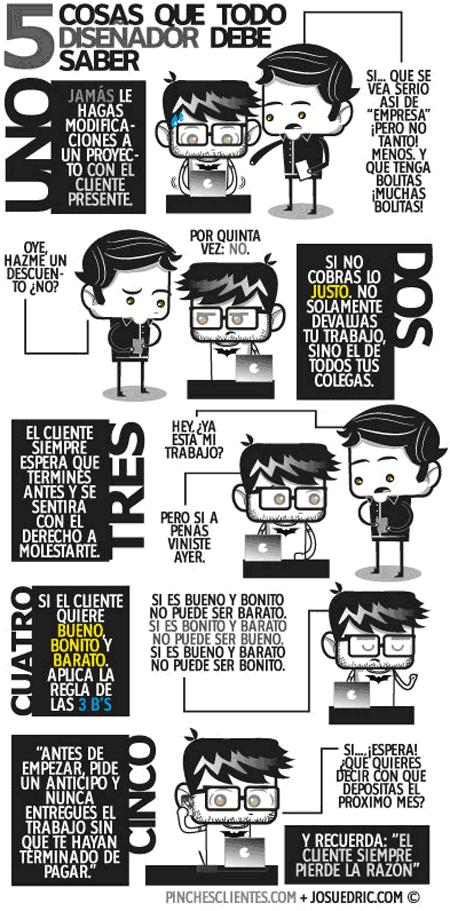 Humor Gráfico. 5 cosas que un diseñador debe saber