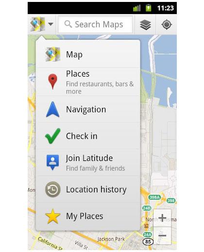 Actualización de Google Maps 6.3.0 para Android