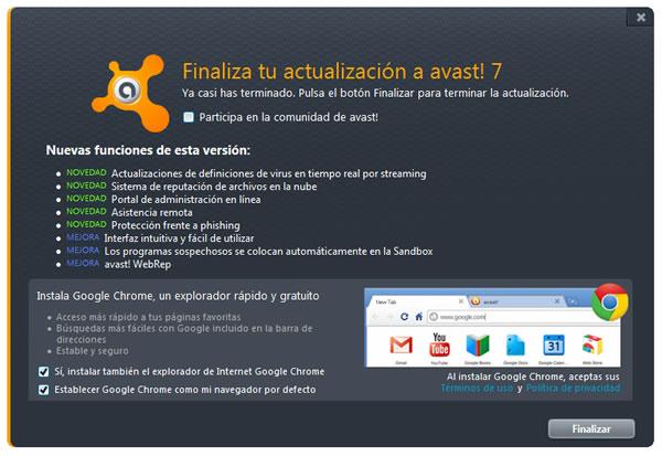 avast! Free Antivirus 7 ya está disponible para su descarga