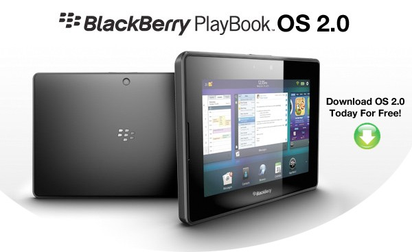 BlackBerry PlayBook OS 2.0 actualización disponible para su descarga