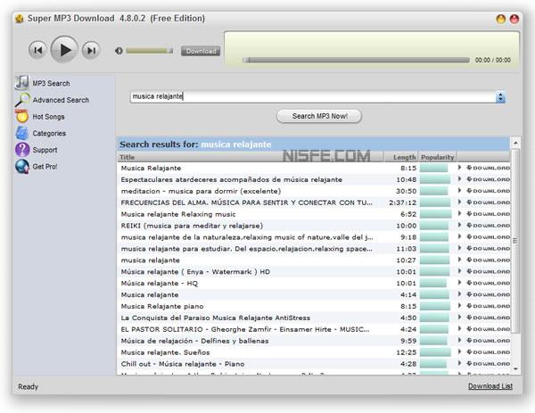 Descargar música gratis de Internet con Super MP3 Downloader