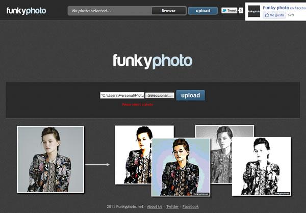 Efectos especiales a tus fotografías con Funkyphoto