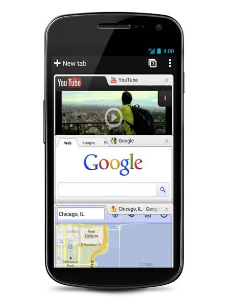 Google Chrome versión beta para Android 4.0 lanzada oficialmente