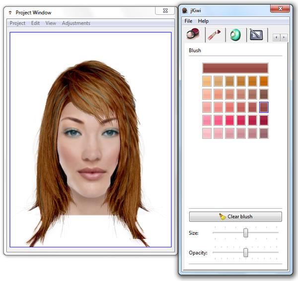 Jkiwi programa de peluquería gratis para maquillaje virtual y cambio de look
