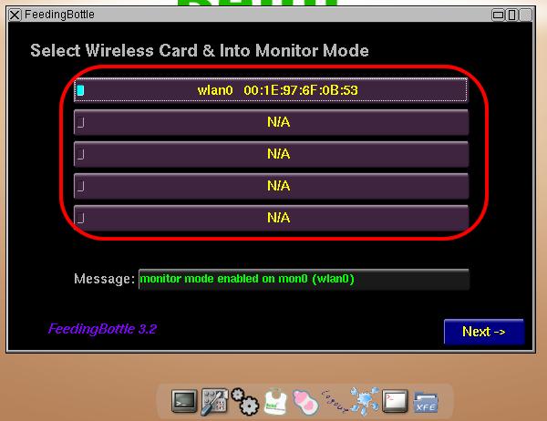 Como saber si el Beini me reconoce la tarjeta o adaptador WiFi