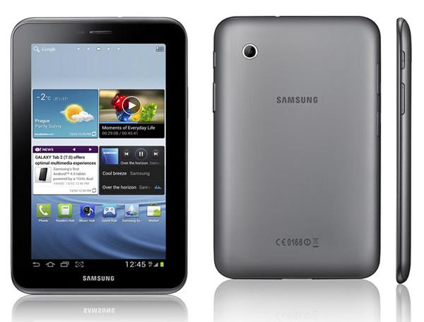 Samsung Galaxy Tab 2 con Android Ice Cream Sandwich y pantalla de 7 pulgadas