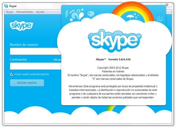 Skype 5.8.0.156 nueva versión para hacer llamadas y videollamadas gratis por Internet