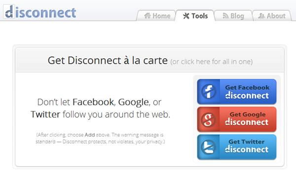Disconnect, bloquear el rastreo que hacen Facebook, Twitter y Google