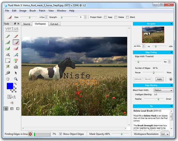 Fluid Mask, programa gratuito para hacer fotomontaje de forma sencilla
