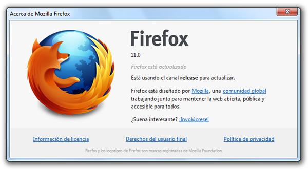 Mozilla Firefox 11.0 final ya está disponible para su descarga