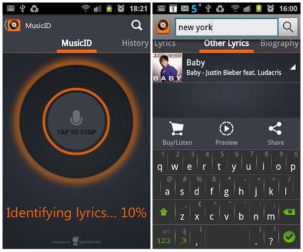 MusixMatch Reproductor multimedia para terminales móviles con Android