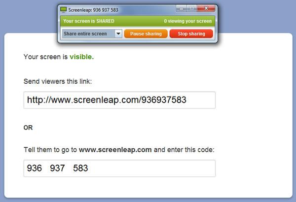 ScreenLeap, compartir lo que vemos en nuestra pantalla por Internet