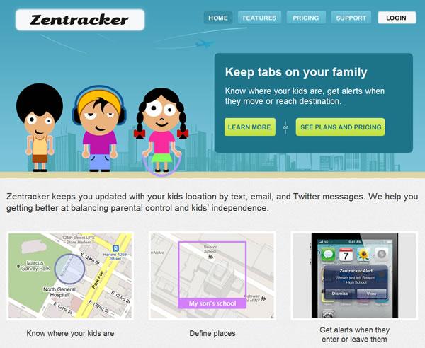 Zentracker te permite controlar la ubicación de tus hijos cada momento