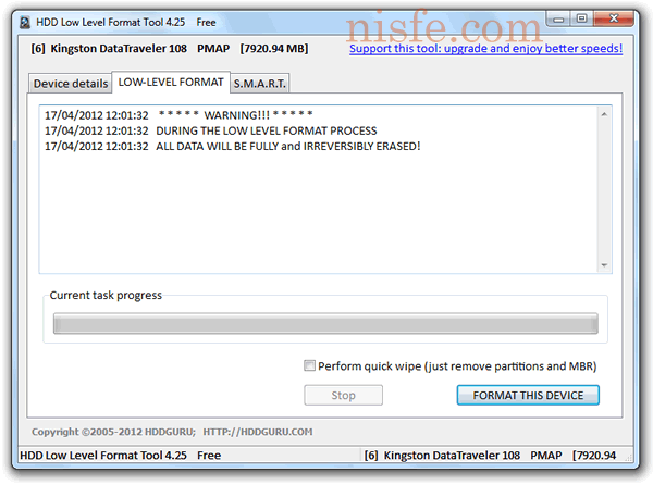 HDD Low Level Format Tool formatear un disco duro en bajo nivel