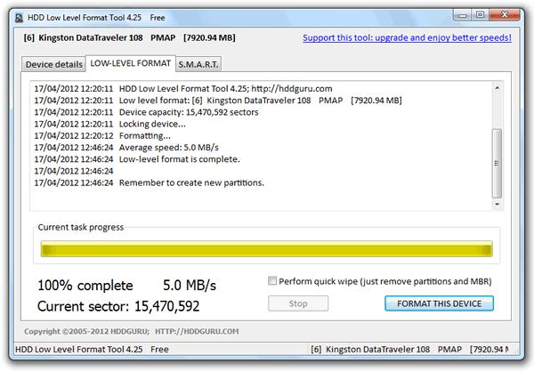 HDD Low Level Format Tool Formatear Discos Duros en bajo nivel